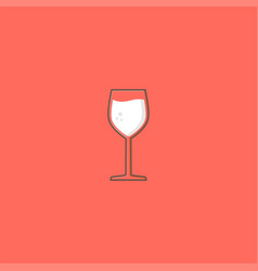 wine and simple glass logo design symbol dan vector image