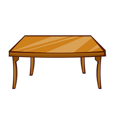 wooden table isolated vector image