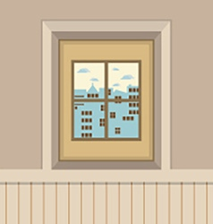 Buildings View Through The Window vector image