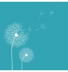 Dandelion in the wind background vector image