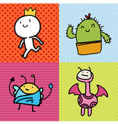 Doodle Card kids vector image vector image