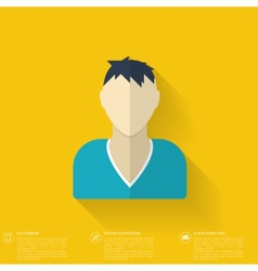 Flat avatar icons Business concept global vector image vector image