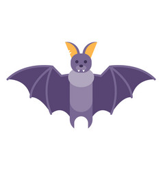 flat style of bat vector image