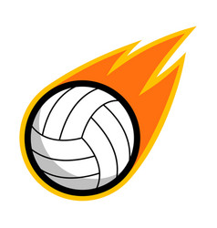 sport ball fire volleyball vector image
