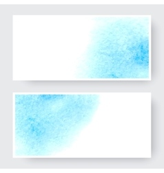 Watercolor design banners vector image vector image