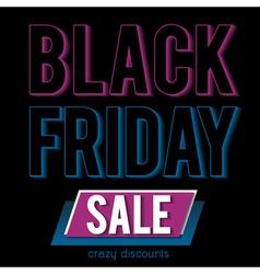 Black friday sale banner on patterned background vector image vector image