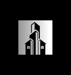 House cityscape architecture business logo vector