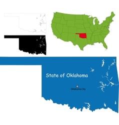 Oklahoma map vector