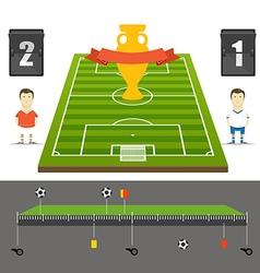 Soccer match statistics template Flat design vector image vector image
