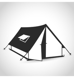 tent flat icon vector image