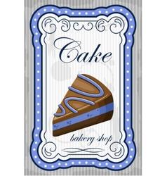 Vintage cake poster vector image