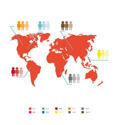 world population statistic vector image vector image