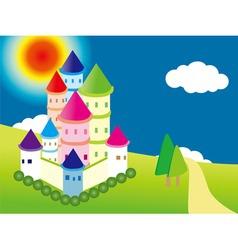 cartoon castle vector image