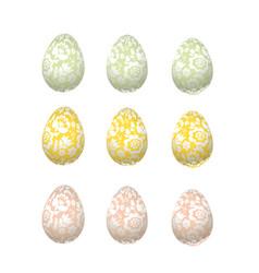 Easter egg luxury decoration floral elegant style vector