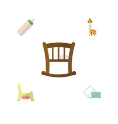 Flat icon infant set of toy napkin toilet and vector