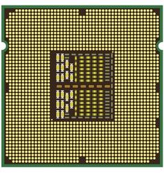 modern computer processor vector image vector image