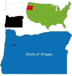 Oregon map vector image vector image