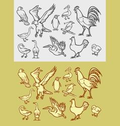 Bird sketch 1 vector image