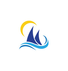 cruise ship logo template vector image