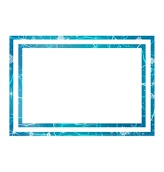 Frame of ice winter frame vector
