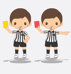 referee signals in soccer vector image vector image