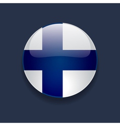 Round icon with flag of Finland vector image vector image
