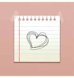 valentines notepad vector image