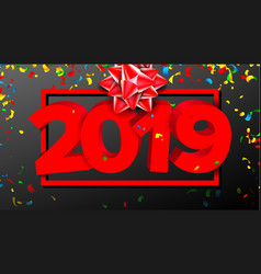 2019 3d sign sign numbers 2019 modern vector