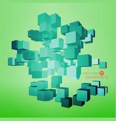 3d cubic design vector image