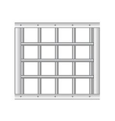 3d realistic steel prison bars vector image