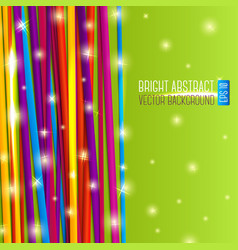 Abstract bright background with colorful laces and vector image