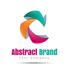 Abstract business icon Corporate branding vector