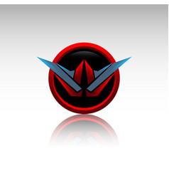 Abstract design element - metal w sphere logo vector