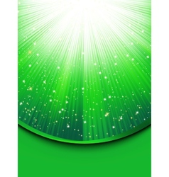 Abstract green stars background vector