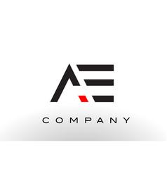 Ae logo letter design vector