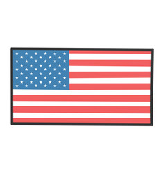 American flag design icon vector