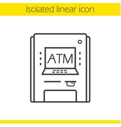 Atm machine linear icon vector