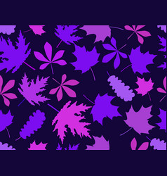 Autumn leaves seamless pattern set colorful vector