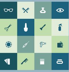 beauty salon icons universal set for web and ui vector image