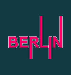 berlin city name vector image