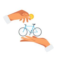 Bike rent purchase vector
