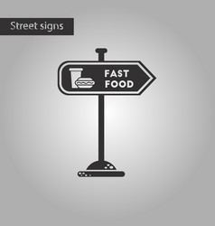 Black and white style icon fast food sign vector