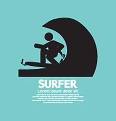 Black Symbol Surfer vector image
