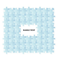 blue puzzle field vector image