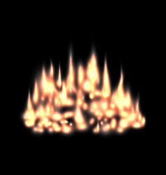 blurred fire light effect background fireplace vector image