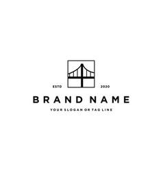 Bridge logo design vector