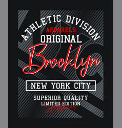 Brooklyn nyc typography design varsity vector