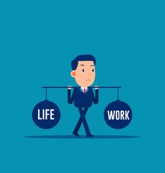 business people balance between life and work vector image