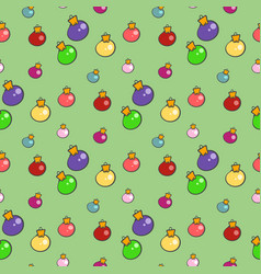 Christmas balls pattern vector