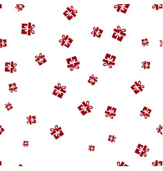 christmas gift on a white background seamless vector image